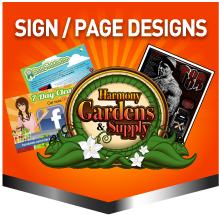 Sign and Page Designs New Clients Typically Pay $70